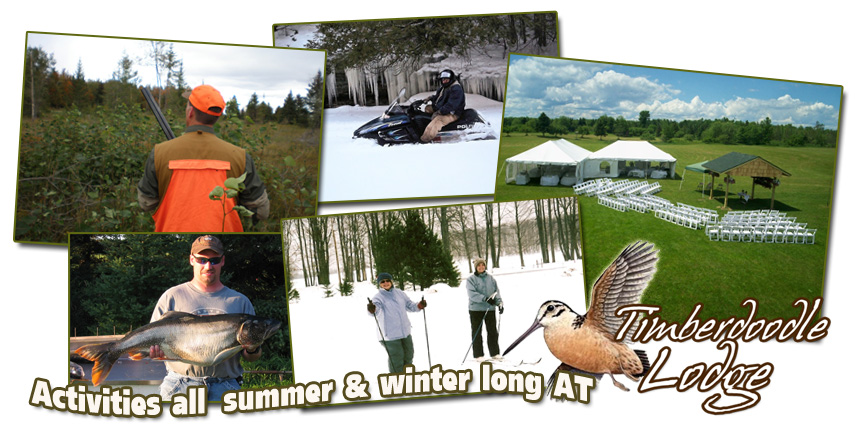 Activities All Summer & Winter Long at Timberdoodle Lodge Michigan